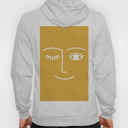 wink / mustard Hoody