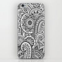 paisley iPhone & iPod Skins featuring Paisley by Emma Lin