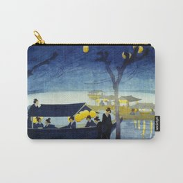 Wasen at Night - Vintage Japanese Art Carry-All Pouch
