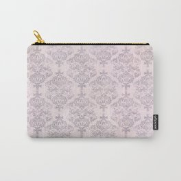 Rose Grey Pastel Damask Watercolor Pattern Carry-All Pouch