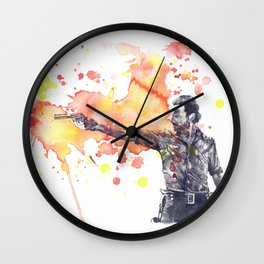 Portrait of Rick Grimes from The Walking Dead Wall Clock