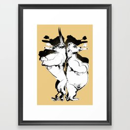 The Bull & Bear Framed Art Print