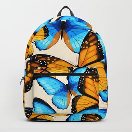 Blue And Yellow Viceroy Butterfly Pattern Backpack