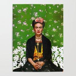 Frida Kahlo Green Poster