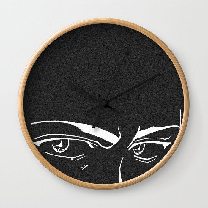 Doubt eyes bw Wall Clock