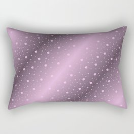 purple,Many pretty shamrocks in a design metal shiny festively elegant, for anyone from the family Rectangular Pillow