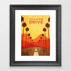 Mulholland Drive Alternative Poster Framed Art Print
