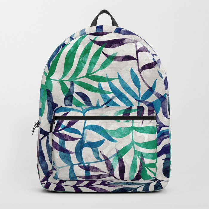 Watercolor Tropical Palm Leaves XI Backpack