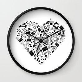 I Love Soccer | Ball Sports Team Stadium Wall Clock