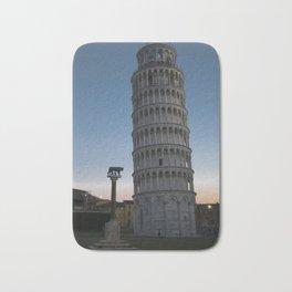 Pisa Tower At Night 2 remus romulus Tuscany Italy Bath Mat