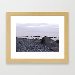 STONE BEACH on the Baltic Sea Framed Art Print