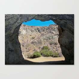 Looking out from the Bat Cave in Bronson Canyon Canvas Print