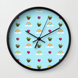 Somewhere Over The Rainbow pattern Wall Clock