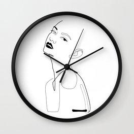 Flirty look Wall Clock