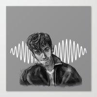 alex turner Canvas Prints featuring Alex Turner by Luna Perri
