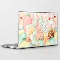 mlp Laptop & iPad Skins featuring Strawberry Dollop MLP by Whimsette