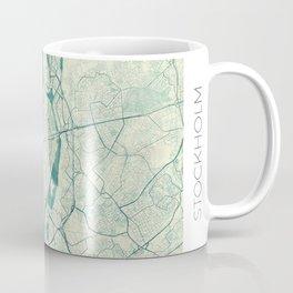 Stockholm Map Blue Vintage Coffee Mug