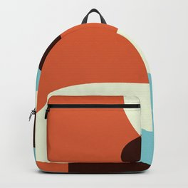 Retro Wave Orange And Blue Backpack