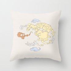 The Lay of the Land Throw Pillow