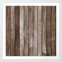 wooden Art Prints featuring Wooden Texture by Patterns and Textures
