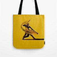 baseball Tote Bags featuring Baseball by Enzo Lo Re