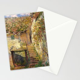 "Claude Monet ""L'escalier"" (""The staircase"")(1878) Stationery Cards"