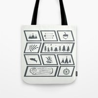 camping Tote Bags featuring Camping by Corina Rivera Designs