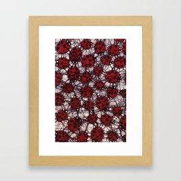 Ladybug Batik Framed Art Print