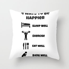 way luck sleeping training eating sex gift Throw Pillow