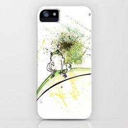 FROG - animal portrait serie iPhone Case