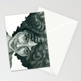 Natural Hair Portrait - African American Woman Afro Stationery Cards