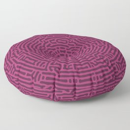 Radial Turing Pattern Square (Purple Pink) Floor Pillow
