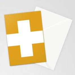 Swiss Cross Mustard Stationery Cards