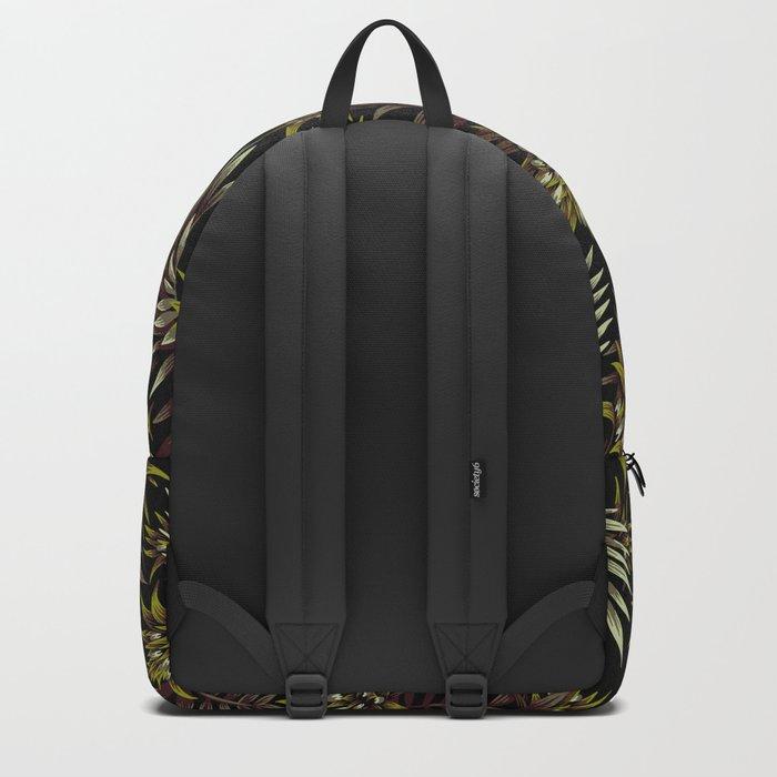 Aechmea Fasciata - Dark Green / Brown Backpack
