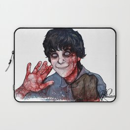 well, i feel schizophrenic (Portrait of Adam Lanza) Laptop Sleeve