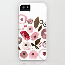 Pink blush flowers iPhone Case