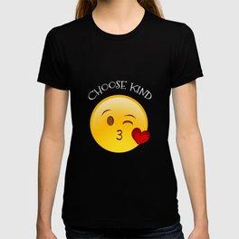 Choose Kind Kiss Emoji Spreading Kindness Anti-Bully T-shirt