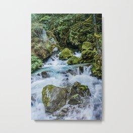 Waterfall in North Cascades Metal Print