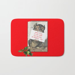 Best Christmas Wishes from the Beast Bath Mat