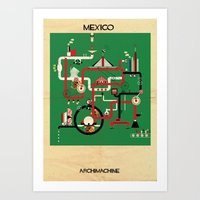 mexico Art Prints featuring Mexico by federico babina