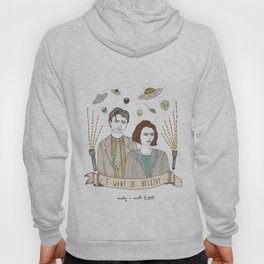 Mulder and Scully 4Ever Hoody