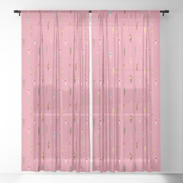 Swimmers in a Sea of Pink Sheer Curtain