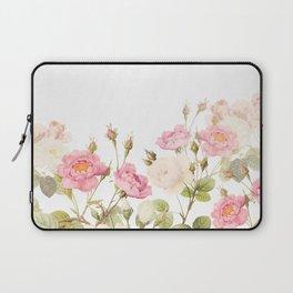 Vintage & Shabby Chic - Sepia Roses Flower Garden Laptop Sleeve