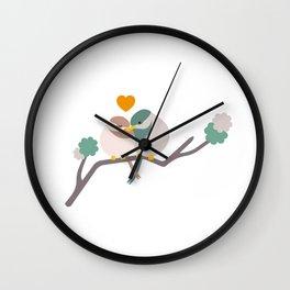 Lovebirds One Wall Clock