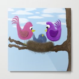 Our Tiny Bird Metal Print