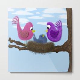 Our Tiny Bird Metal Print