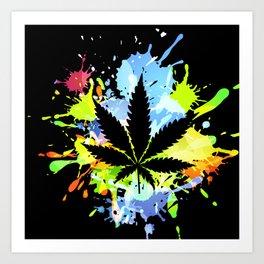 marijuana  canabis Art Print