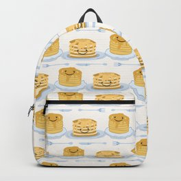 Cute vector blueberry pancake day breakfast illustration Backpack