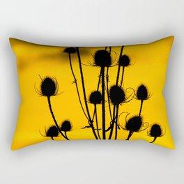 thistle silhouette sunset. Rectangular Pillow