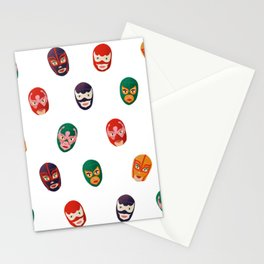 Luchadores pattern Stationery Cards